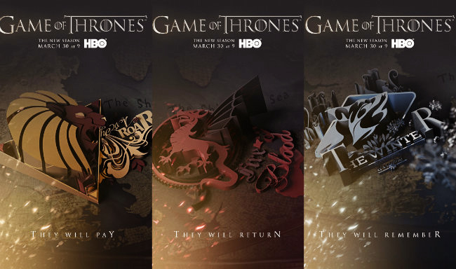 Poster mới nhất của Game of Thrones Season 4