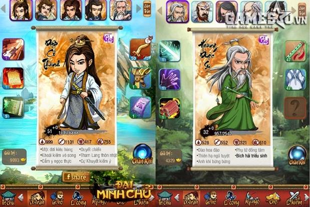 Khai thác loạt tiểu thuyết Kiếm hiệp nổi tiếng của Kim Dung và Cổ Long, Đại Minh Chủ đang tự tin thách thức các game Kiếm hiệp thẻ tướng về độ rộng lớn về cốt truyện, Map và nhân vật Tướng.