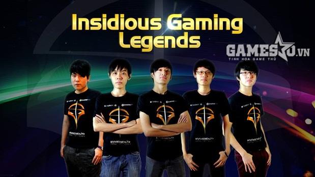 Đội hình của Insidious Gaming Legends tham dự GPL Mùa Xuân 2015
