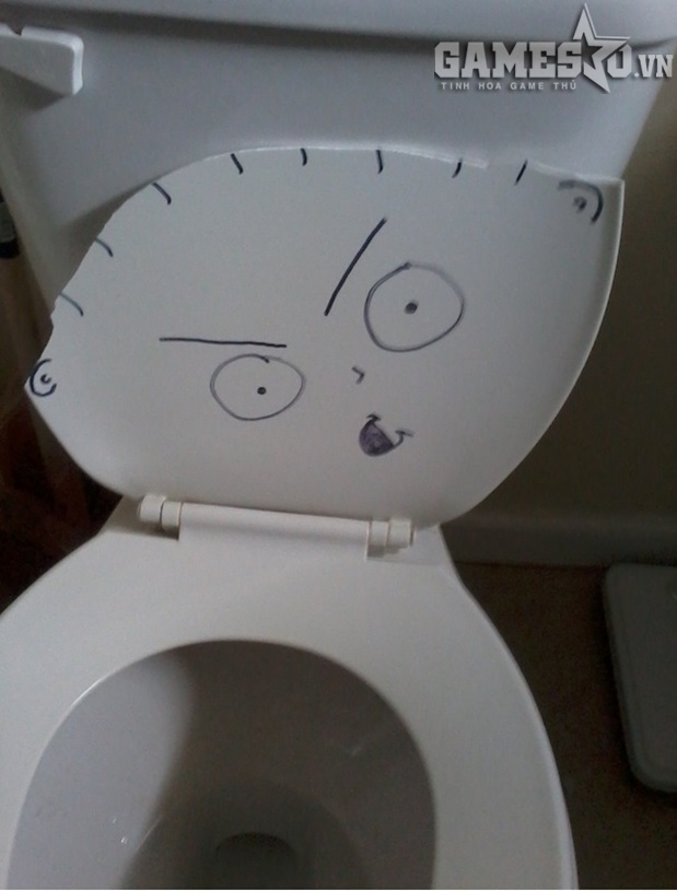 Toilet hư nhưng đừng buồn, hãy biết cách tận dụng cơ hội để thể hiện tài năng của một họa sĩ