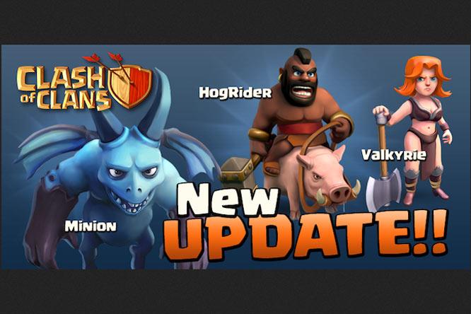 Một trong những bản update của CoC.