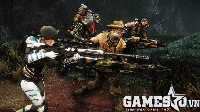Evolve là game bắn súng multiplayer 4 in 1