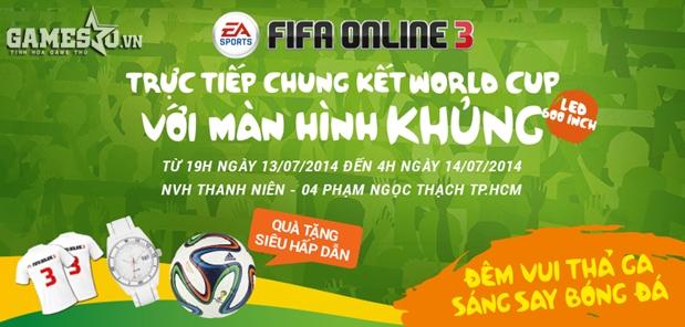 Hòa mình cùng không khí lễ hội đêm chung kết cùng FIFA Online 3