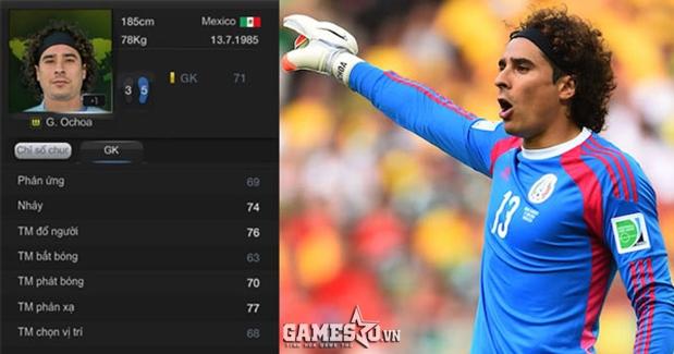 Ochoa  thẻ World Cup không thật sự nổi bật
