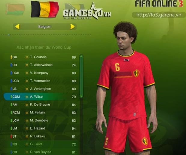 Bỉ sở hữu rất nhiều ngôi sao trẻ trong FIFA Online 3