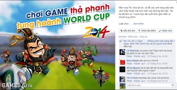 Chơi game thả phanh tung hoành World Cup