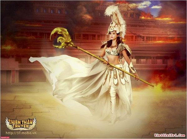 Trúc Diễm hóa thân nữ thần Athena trong game 3T
