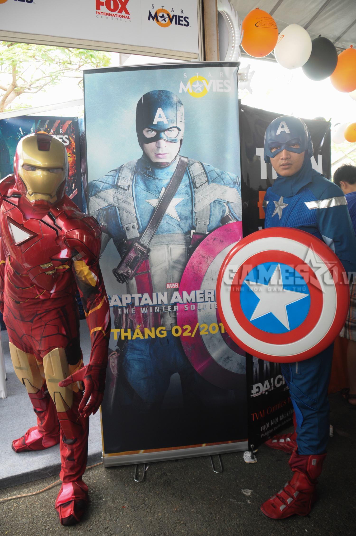 Iron man sóng vai cùng Captain
