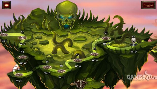 """Hệ thống chiến dịch đa dạng trong Thần tướng mobi cùng với chức năng """"Săn Boss"""" dấp dẫn"""
