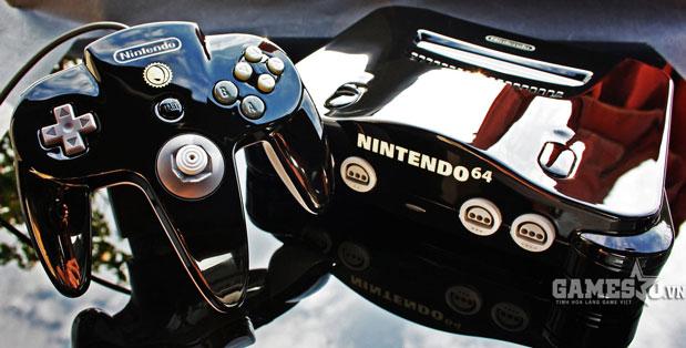 Nintendo 64 đen bóng như đàn piano