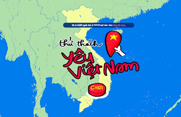 Thử thách Yêu Việt Nam thật sự gây ấn tượng với đông đảo người chơi bởi tính giáo dục hấp dẫn và lối chơi vui nhộn, dễ hiểu.
