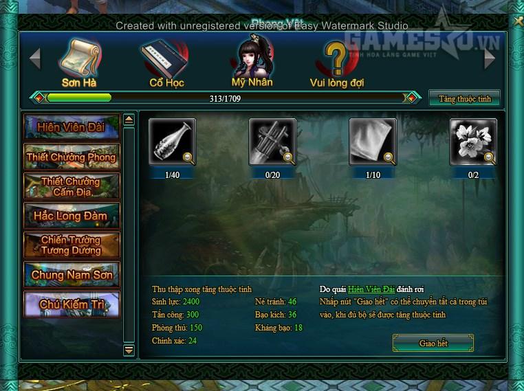 Phong Vật Chí – map đem lại lực chiến và nhiều thuộc tính cho game thủ VLCM2