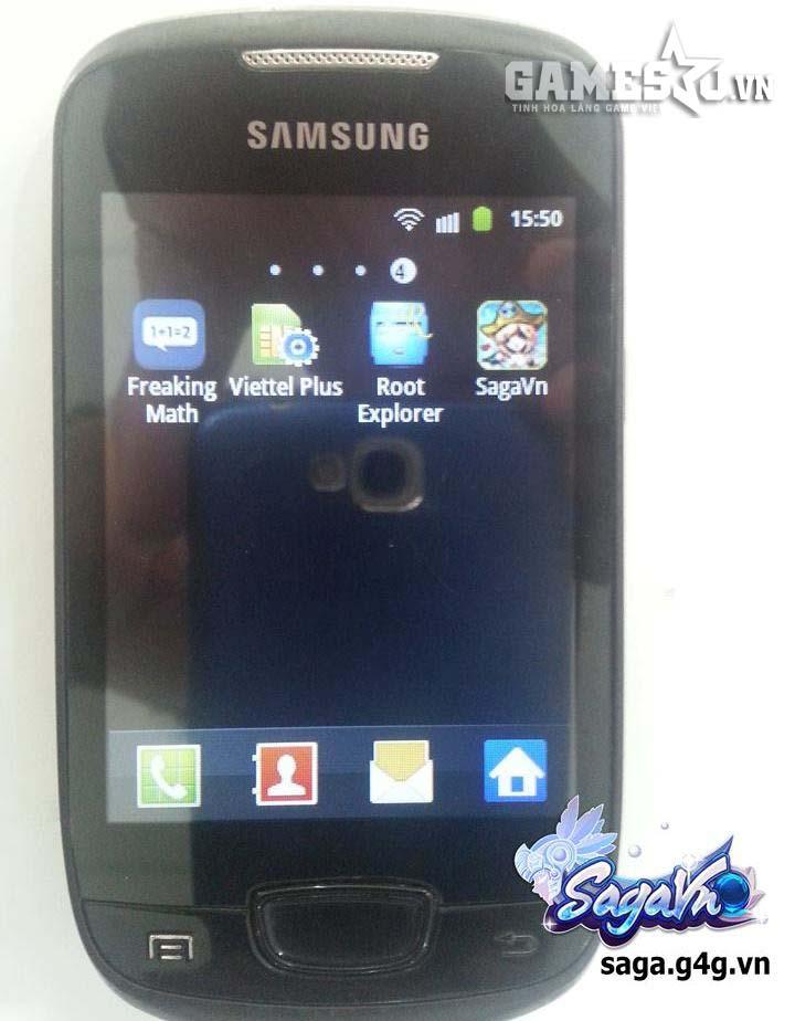 SagaVn đã có mặt trên Galaxy mini huyền thoại