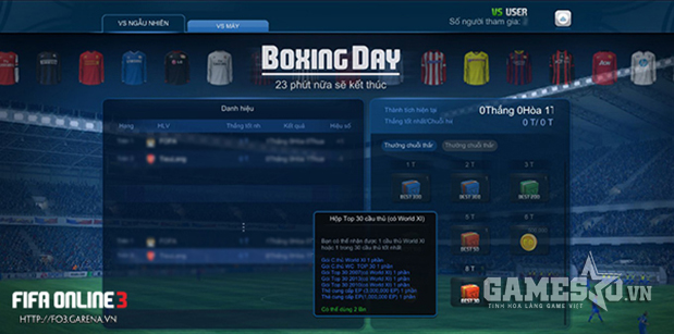 Giao diện PvP Boxing Day