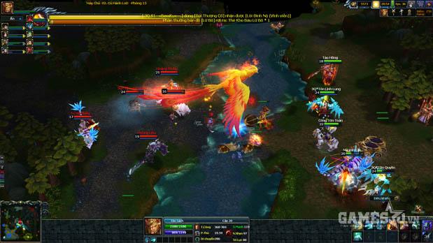 3Q Củ Hành chào sân đấu trường LoD 10 vs 10 không hack map | GameSao
