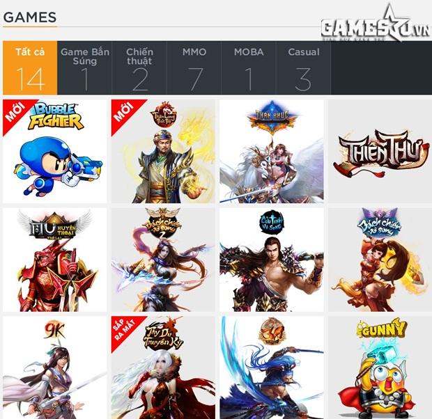 360Play tập trung nhiều game thuộc các thể loại khác nhau