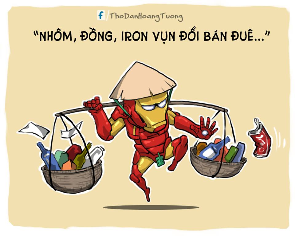 Thu mua đồng nát sắt vụn chính là nghề của Ironman