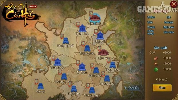 Có rất nhiều lãnh địa để chiếm đóng trong Độc Cô Cửu Kiếm Mobile