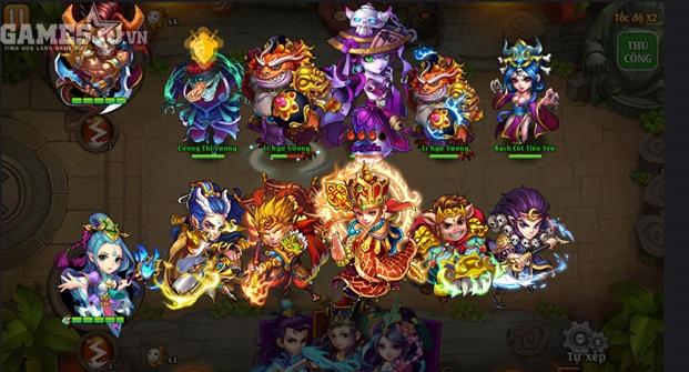 Thầy trò Đường Tăng, Tôn Ngộ Không, Sa Tăng, Trư Bát Giới xuất chiến