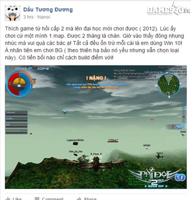 Một game thủ chia sẻ về cảm giác trải nghiệm Phi Đội 2