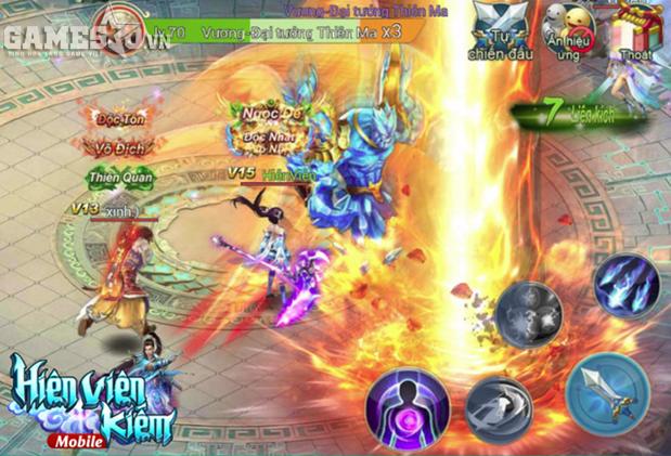 """Người chơi Hiên Viên Kiếm có thể đạt được vật phẩm Hoàng Kim thông qua việc hạ gục những con Boss """"khủng"""", hung tợn trong Game."""