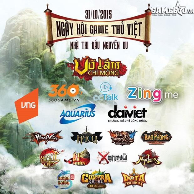 Các tựa game tham gia Ngày hội game thủ 2015