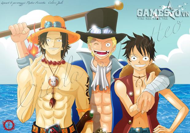 Saobo, Luffy và Ace