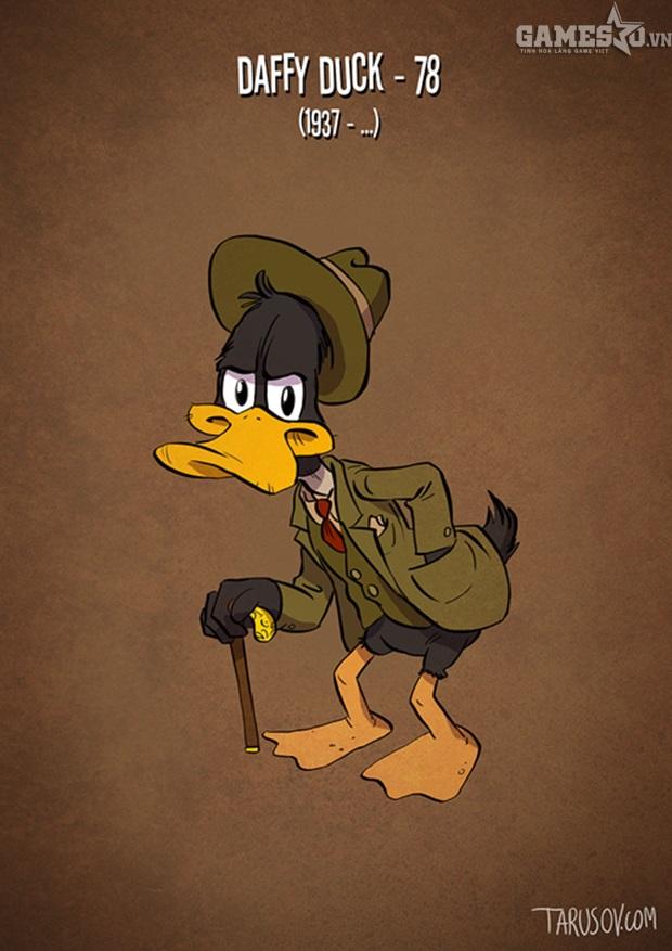 Tranh được vẽ năm 2015 nên nếu tính đến giờ, chú vịt Daffy đã 79 tuổi.