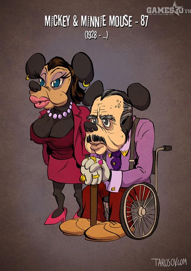 Già nhất trong số này là cặp đôi Micky Minnie đã 88 tuổi. Có vẻ Minnie hơi lạm dụng phẫu thuật thẩm mỹ níu kéo tuổi xuân.