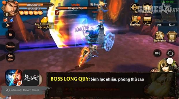 Boss Long Quy mạnh về phòng thủ.