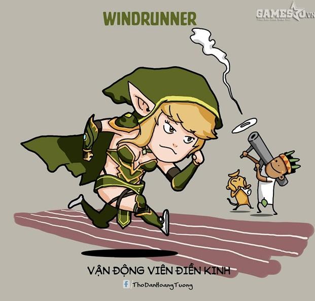 Windrunner chạy điền kinh chắc sớm muộn cũng phá hết kỉ lục thế giới