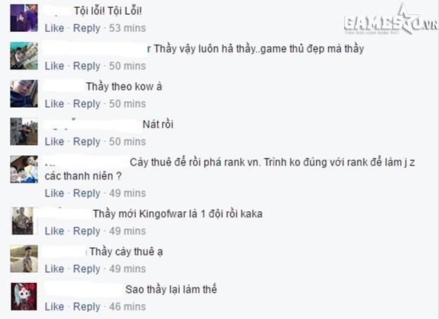 Không tin vào dòng trạng thái mà thầy Bổn Thuận đăng tải