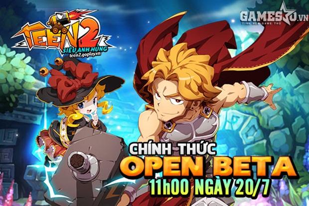 Vào lúc 11h00 ngày 20/07, tựa game Teen2 – Siêu Anh Hùng chính thức ra mắt