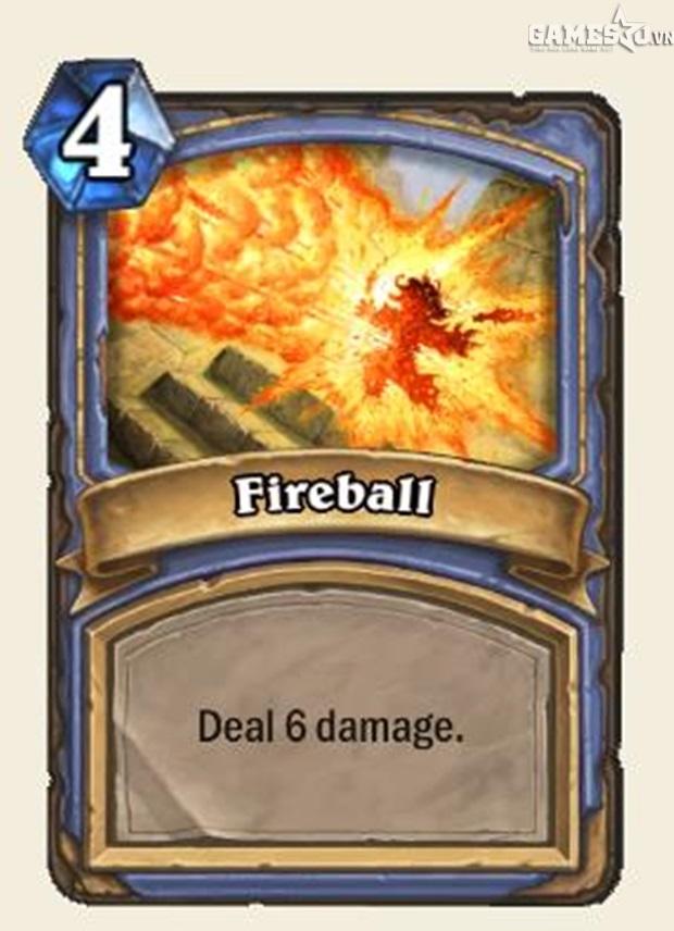 Lá bài Fireball.