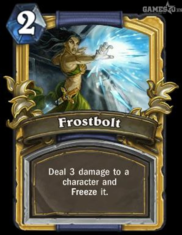 Lá bài Frostbolt.