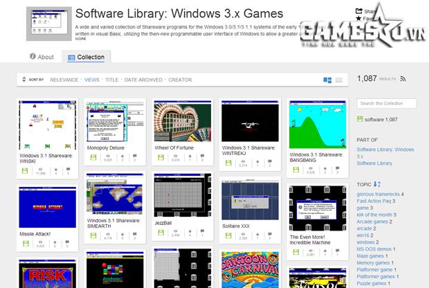 Bên cạnh các trò chơi, The Internet Archive còn cung cấp đầy đủ gần như tất  cả hệ thống ứng dụng, phần mềm, thư viện cũ, thậm chí cả phim ảnh hay ...