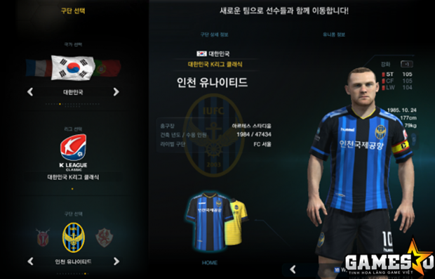 CLB Incheon United trong FIFA Online 3