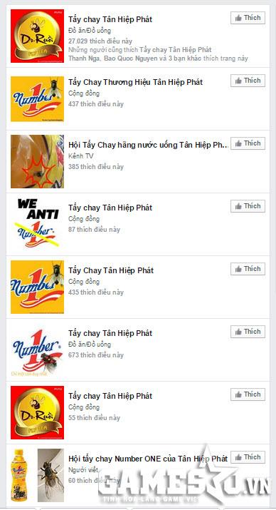 Nhiều Group và Fanpage châm biếm về THP trên Facebook được thành lập bởi cộng đồng người tiêu dùng quay lưng với các sản phẩm hãng.