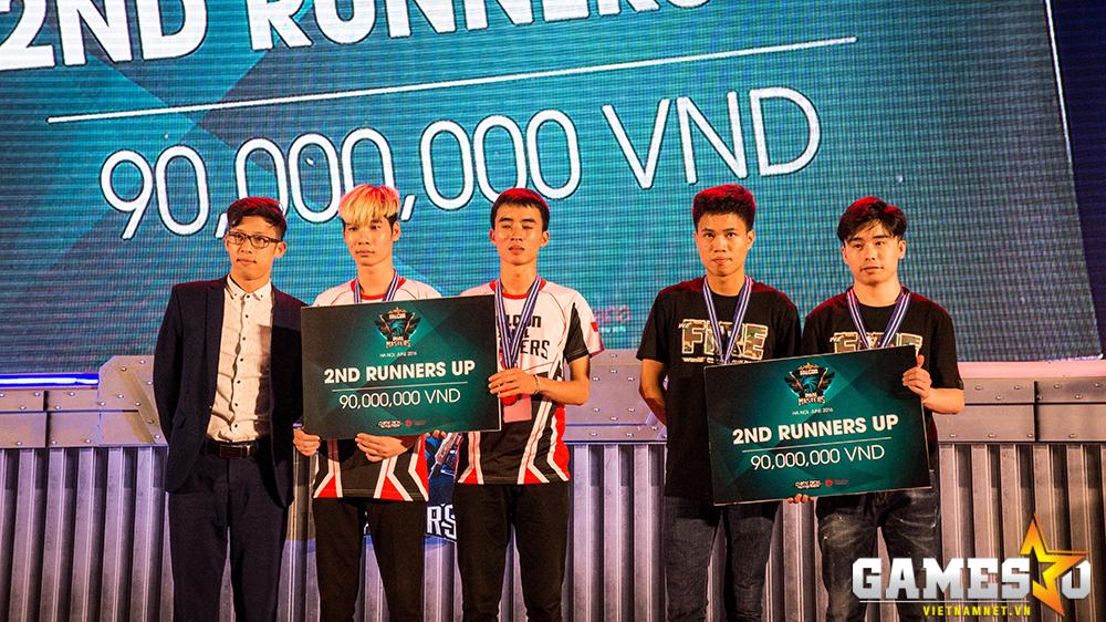 Hai đội tuyển đồng hạng ba tại Falcon Dual Masters là Hà Nội Đồng Anh và Kengbang nhận 90 triệu đồng tiền thưởng.