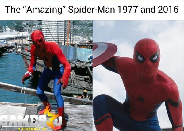 Người Nhện cứ như bị cosplay lỗi.