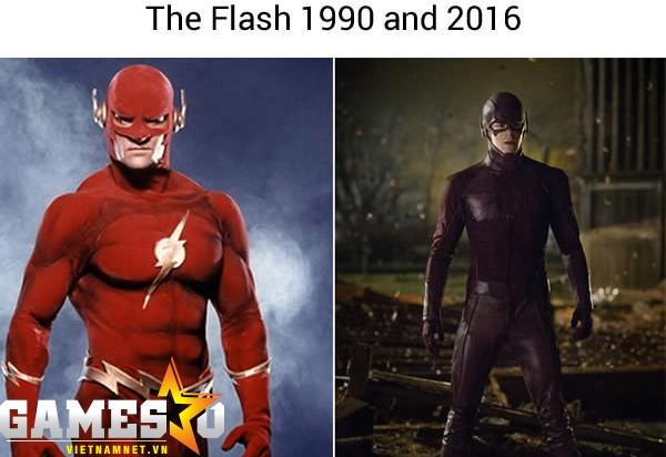 Sau hơn 25 năm, cơ bắp của Flash đã bị teo đi.