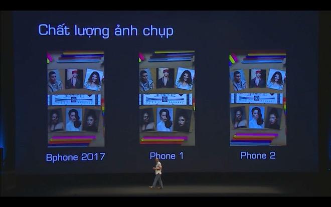 Ông Quảng thông tin, Bphone 2017 được trang bị những công nghệ camera, tính năng chống rung đầu tiên trên thế giới.