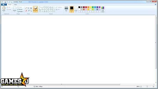 Giao diện Paint trên Windows 7