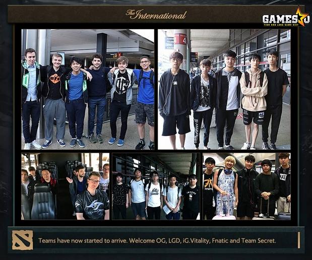 OG, LGD, iG, Vitality, Fnatic và Secret là những teams có mặt tại Seatlle sớm nhất