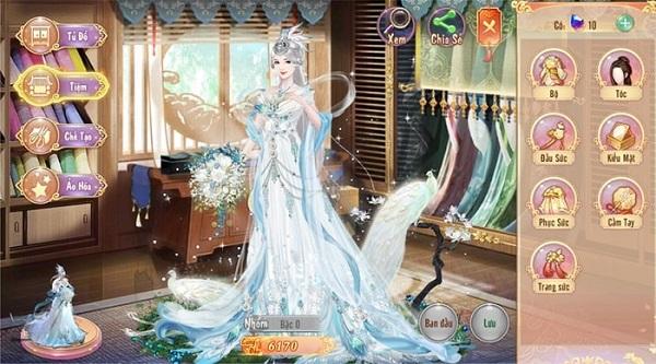 Hiệu ứng lấp lánh được xuất hiện xung quanh bộ trang phục