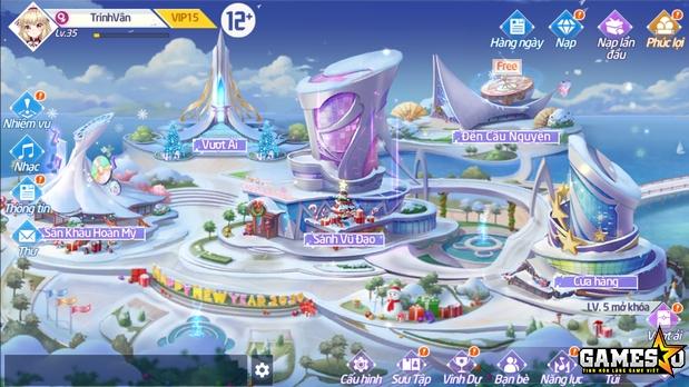 Map mở đầu game vô cùng ấn tượng với phong cách hiện đại, sang chảnh