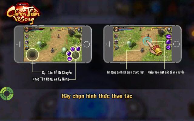 Hai cơ chế di chuyển và chiến đấu ấn tượng trong Chiến Thần Vô Song giúp người chơi cả mobile lần giả lập đều được hỗ trợ tốt nhất