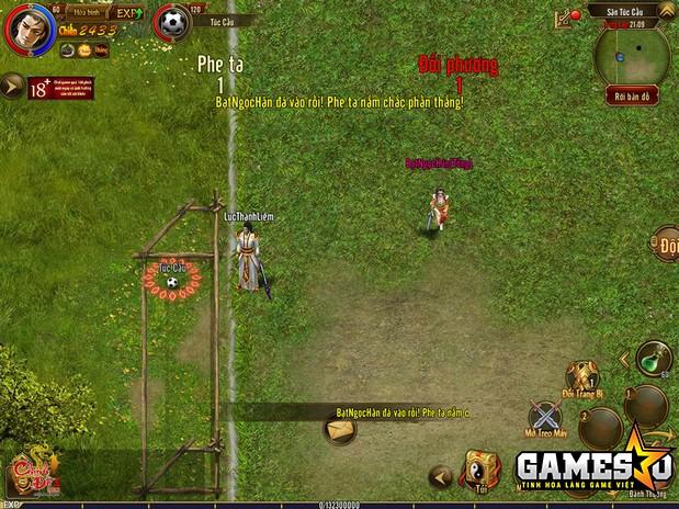 Ảnh chụp màn hình hoạt động Túc cầu (Bóng đá) trong Chinh Đồ 1 Mobile