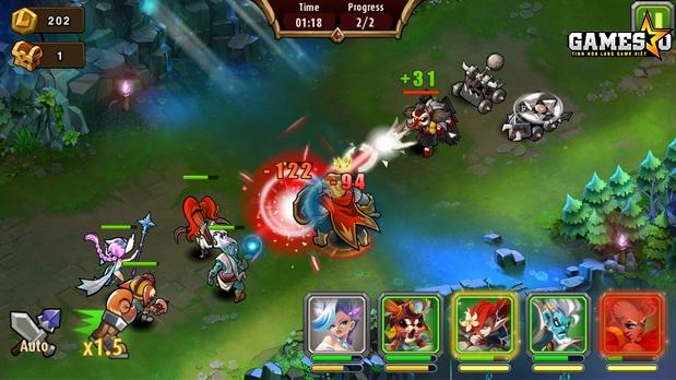 Những màn chơi thông thường trong Magic Rush sẽ có hai Tầng với ba độ khó tăng dần