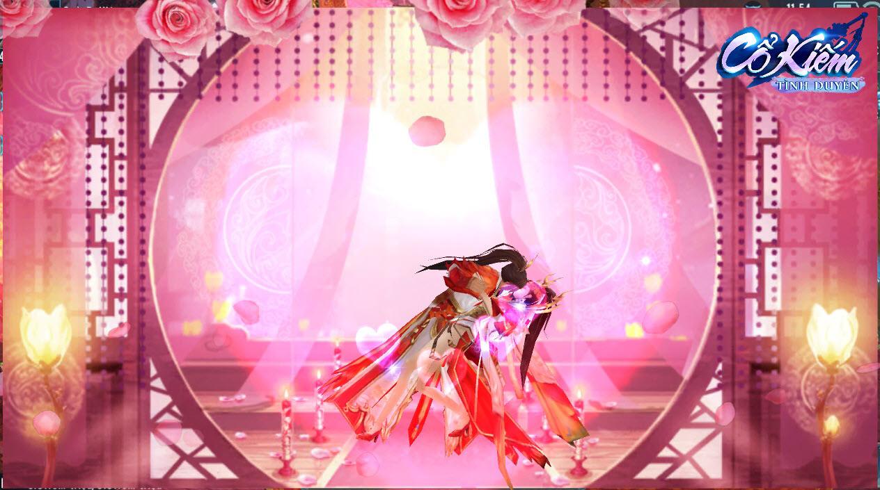 Cổ Kiếm Tình Duyên là một trong số hiếm game kiếm vũ hiện nay có… cảnh động phòng